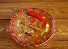 Spicy Mexican soup Stock Photos