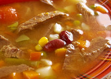 Spicy Mexican soup Stock Image
