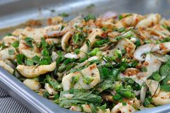 Spicy miced squid salad Royalty Free Stock Image