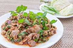 Spicy minced chicken salad (larb, thai food) Royalty Free Stock Photography