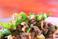 Spicy Minced Duck Salad Royalty Free Stock Images