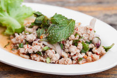 Spicy minced meat salad Royalty Free Stock Images