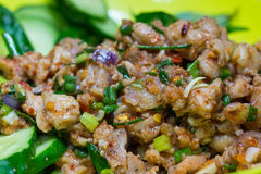 Spicy minced meat salad. Royalty Free Stock Photo
