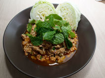 Spicy Minced Pork homemade Royalty Free Stock Images