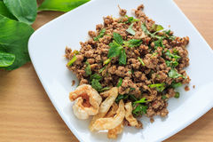 Spicy minced pork Royalty Free Stock Photo