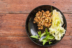 Spicy minced pork salad Royalty Free Stock Images
