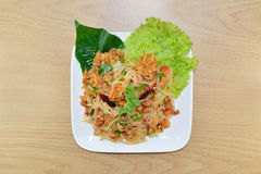 Spicy minced pork salad Stock Images