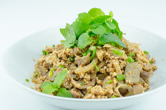 Spicy minced pork salad, minced pork mash with spicy Stock Image