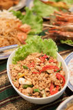 Spicy minced pork salad Royalty Free Stock Photography