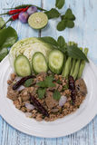 Spicy minced pork salad Stock Photography