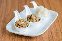 Spicy minced pork Stock Photography
