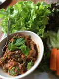 Spicy minced salmon salad. Is Thai Royalty Free Stock Image