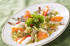 Spicy mix seafood Royalty Free Stock Photos