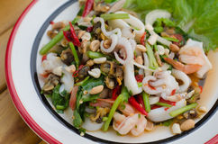 Spicy mixed seafood salad Royalty Free Stock Photo