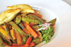 Spicy, mixed vegetable cuisine Royalty Free Stock Images