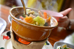 Spicy mixed vegetable soup. Thailand Royalty Free Stock Photos
