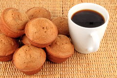 Spicy muffins and coffee Royalty Free Stock Image