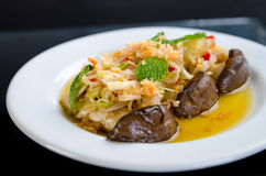 Spicy mushroom salad Stock Images