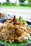 Spicy mushroom salad : vegetarian thai food Stock Image