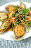 Spicy mussel Basil Royalty Free Stock Image