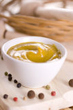 Spicy mustard. Full colors food dip Royalty Free Stock Photo