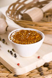Spicy mustard. French food dip Royalty Free Stock Photos
