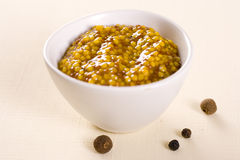 Spicy mustard. French food dip Royalty Free Stock Images