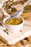 Spicy mustard. French food dip Royalty Free Stock Image
