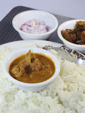 spicy Mutton Curry with Rice Royalty Free Stock Image