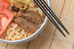 Spicy mutton noodles Stock Photos