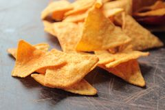 Spicy nachos chips Royalty Free Stock Photography