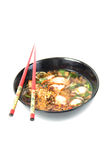 Spicy Noodle in a bowl Stock Photo