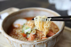 Spicy Noodle with egg Stock Image