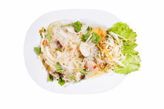 Spicy noodle salad, spicy vermicelli salad (yum woon sen) Stock Image