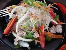 Spicy Noodle Salad - Thai Food. Spicy Noodle Salad (Thai food stock photography