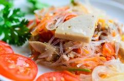 Spicy noodle salad Stock Photos