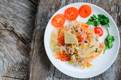 Spicy noodle salad Royalty Free Stock Image