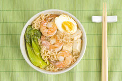 Spicy Noodle Soup with Shrimps Royalty Free Stock Image