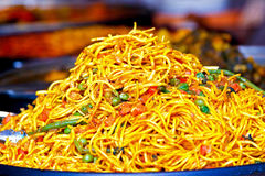 Spicy noodles Royalty Free Stock Images