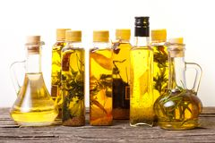 Spicy oils Royalty Free Stock Photography