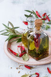 Spicy Olive Oil Stock Photography