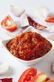 Spicy onion chutney Stock Photography