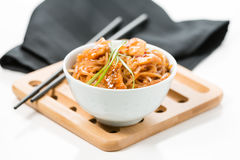 Spicy Pad Thai Bowl Stock Image