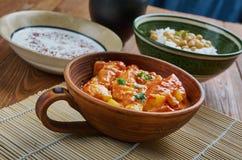 Spicy Pakistani Zucchini. Traditional Pakistani cuisine, close up Stock Photos