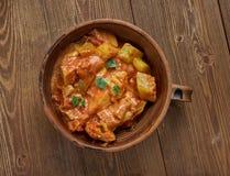 Spicy Pakistani Zucchini. Traditional Pakistani cuisine, close up Stock Image