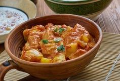 Spicy Pakistani Zucchini. Traditional Pakistani cuisine, close up Stock Photo