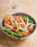 Spicy papaya salad. Called somtum Stock Image