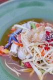 Spicy papaya salad Royalty Free Stock Photo