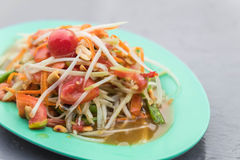 Spicy papaya salad. (som tum) - thai food Stock Photo