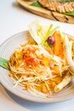 Spicy papaya salad  Som tum  Royalty Free Stock Images